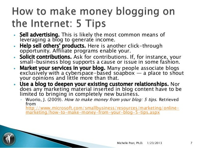    Sell advertising. This is likely the most common means of    leveraging a blog to generate income.   Help sell others...