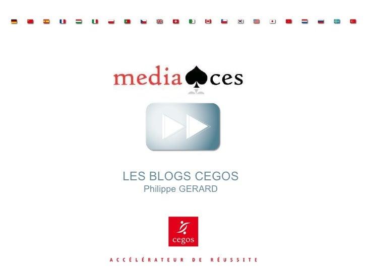 LES BLOGS CEGOS Philippe GERARD