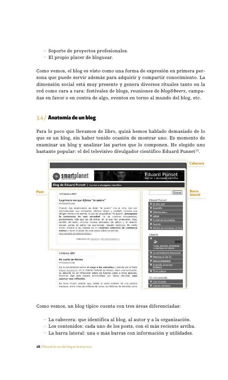 3.4.1 / La cabecera  Elementos típicos de una cabecera son:      · Título: nombre del blog.     · Subtítulo: lema que desc...