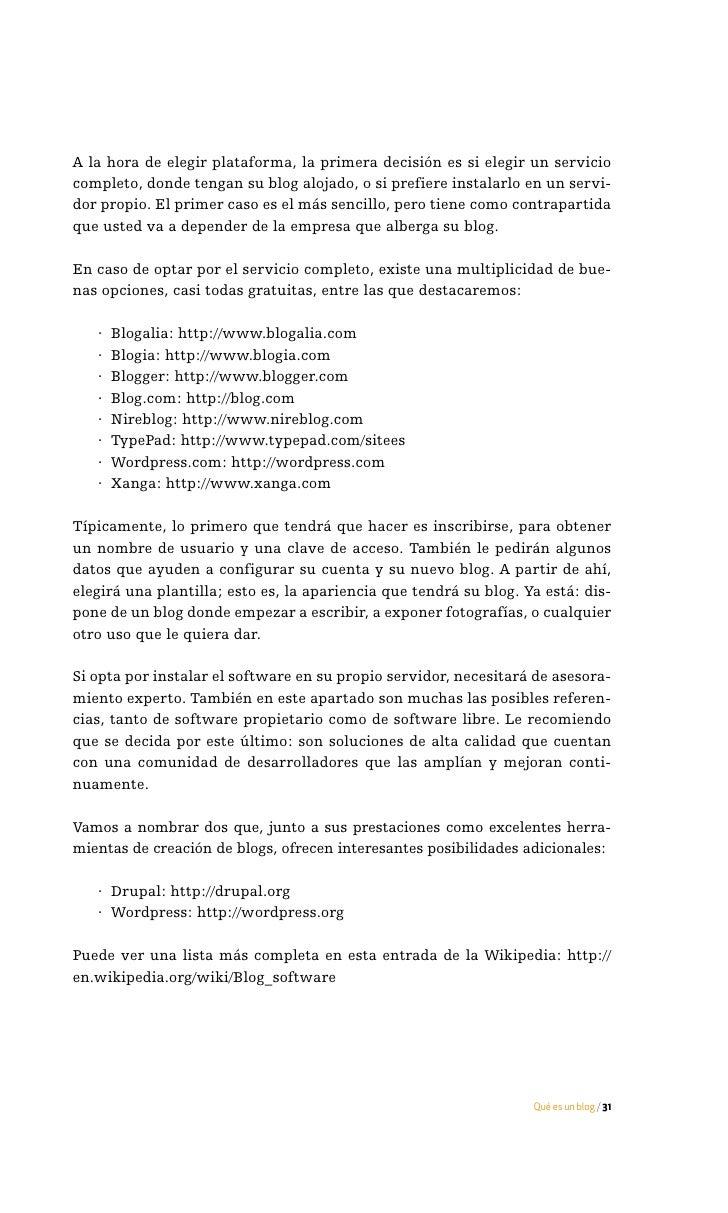 cuatro La blogosfera     32 / Manual de uso del blog en la empresa