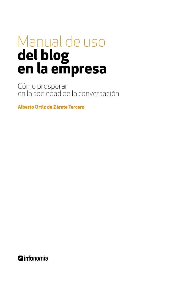 índice     6 / Manual de uso del blog en la empresa
