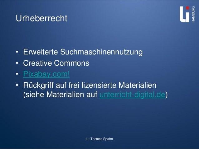 LI: Thomas Spahn Urheberrecht • Erweiterte Suchmaschinennutzung • Creative Commons • Pixabay.com! • Rückgriff auf frei liz...