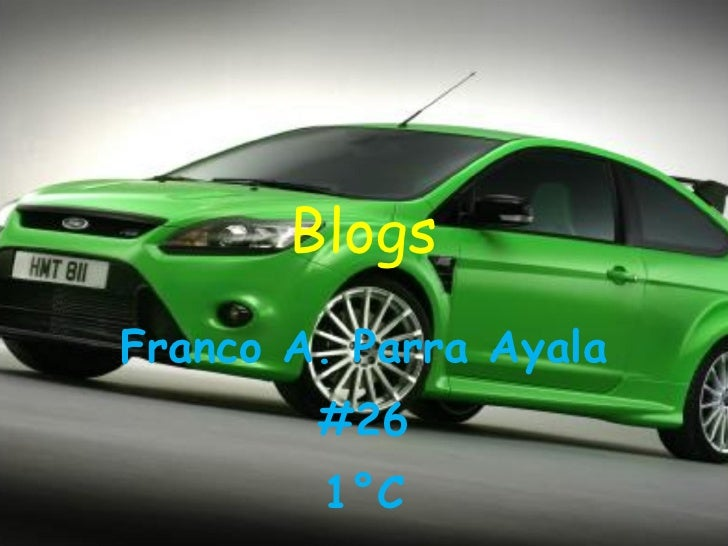 Blogs Franco A. Parra Ayala #26 1°C