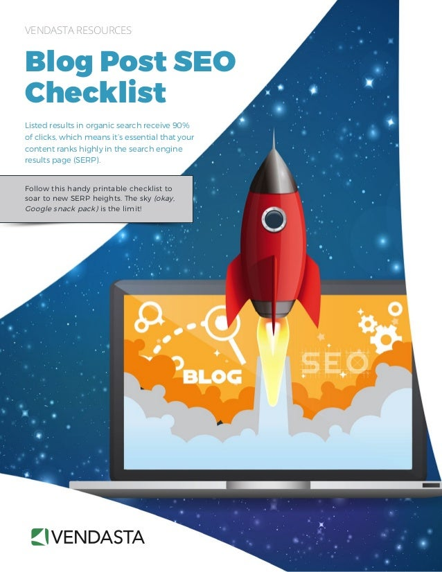 Follow this handy printable checklist to soar to new SERP heights. The sky (okay, Google snack pack) is the limit! VENDAST...