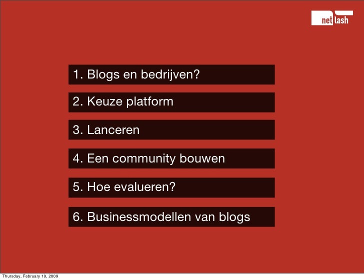 Blogs voor bedrijven - hoe, wat, waar, waarom Slide 2