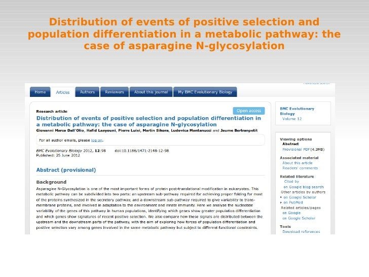 Distribution of events of positive selection andpopulation differentiation in a metabolic pathway: the         case of asp...