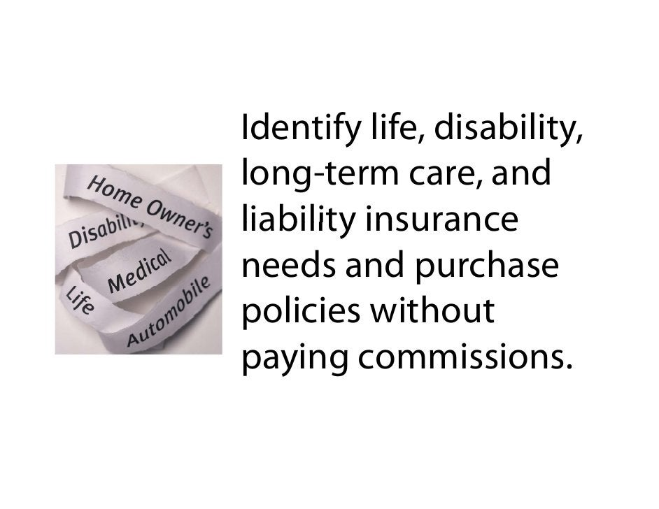 Identify life, disability, long-term care, and l                    d liability insurance needs and purchase policies with...