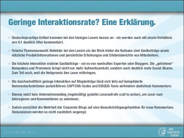 Geringe Interaktionsrate? Eine Erklärung. Deutschsprachige Artikel kommen bei den hiesigen Lesern besser an - sie werden a...