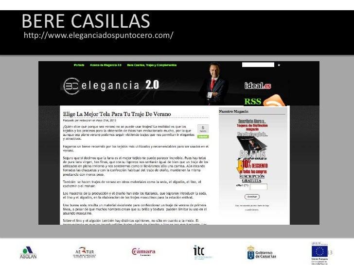 BERE CASILLAS<br />13<br />http://www.eleganciadospuntocero.com/<br />