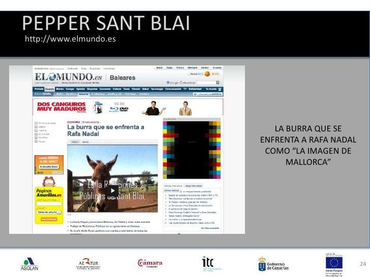 """PEPPER SANT BLAI<br />24<br />http://www.elmundo.es<br />LA BURRA QUE SE ENFRENTA A RAFA NADAL COMO """"LA IMAGEN DE MALLORCA..."""