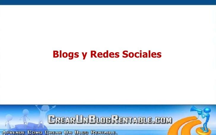 Blogs y Redes Sociales<br />