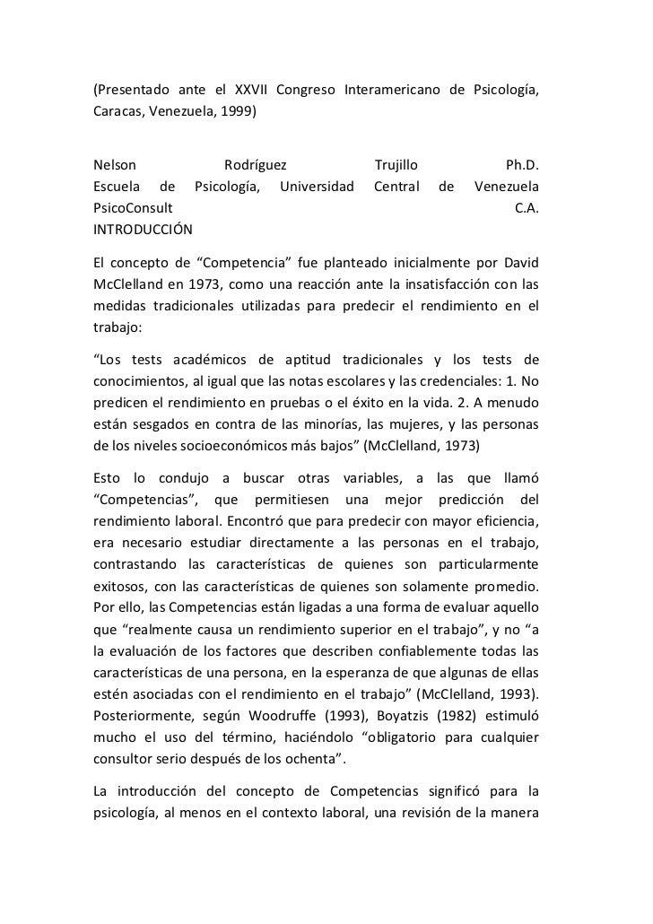 (Presentado ante el XXVII Congreso Interamericano de Psicología,Caracas, Venezuela, 1999)Nelson          Rodríguez        ...