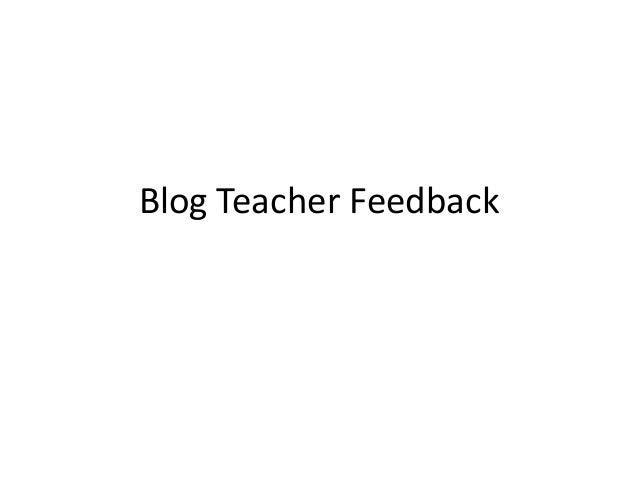 Blog Teacher Feedback