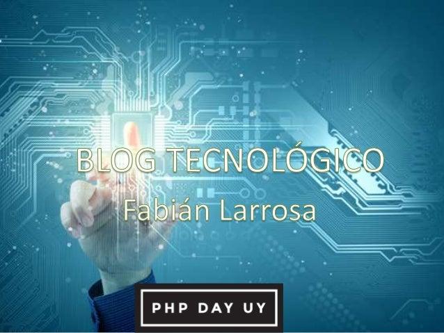 El objetivo de esta charla es transmitir todo el conocimiento que fue aplicado en la creación del blog. Se tocarán los tem...