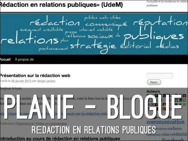 OBJECTIFS DE COMMUNICATION• Être une référence pour les professionnels  des rp sur lactualité et les tendances qui  marque...