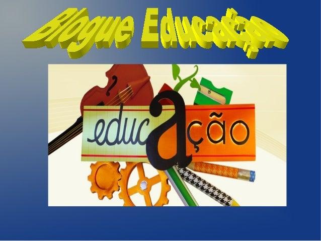Blogue educação