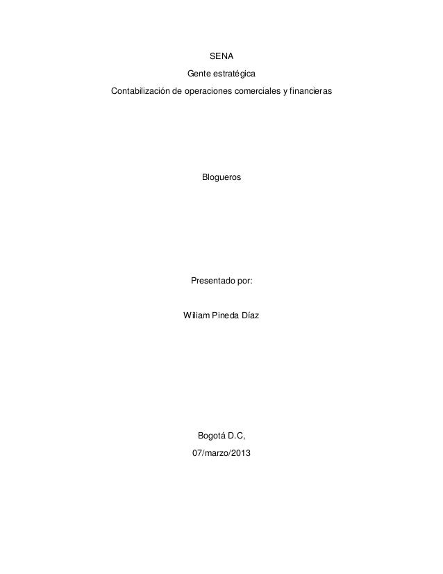 SENA                   Gente estratégicaContabilización de operaciones comerciales y financieras                       Blo...
