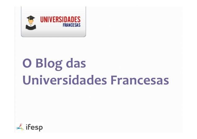 O Blog dasUniversidades Francesas