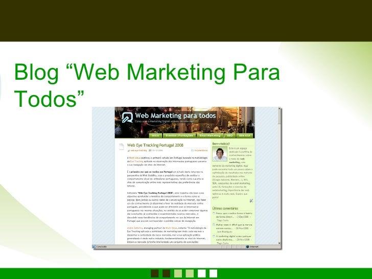 "Blog ""Web Marketing Para Todos"""