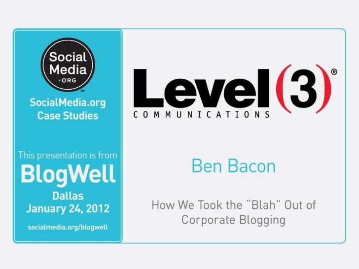 Level 3 Communications, LLC. All Rights Reserved.   1