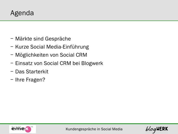 Blogwerk Kundenspräche in Social Media Slide 2