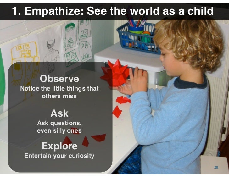 The Value of Visual Thinking in Social Business | Date October 16, 2009   1. Empathize: See the world as a child          ...