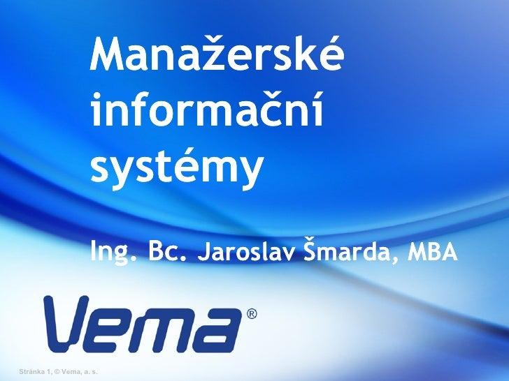 Jaroslav Šmarda - Manažerské informační systémy