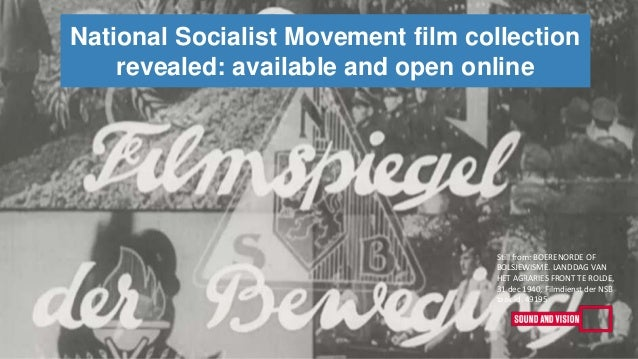 National Socialist Movement film collection revealed: available and open online Still from: BOERENORDE OF BOLSJEWISME. LAN...