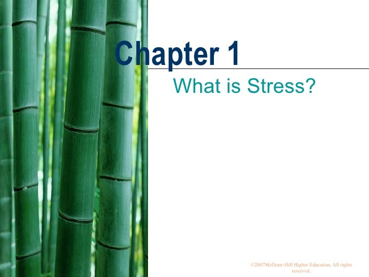 Chapter 1 What is Stress?