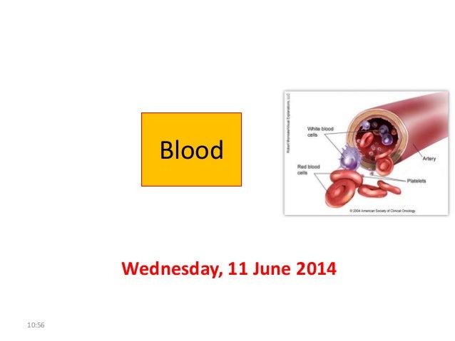 Blood Wednesday, 11 June 2014 10:56