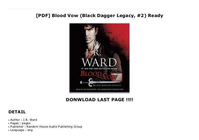 Pdf Blood Vow Black Dagger Legacy 2 Ready