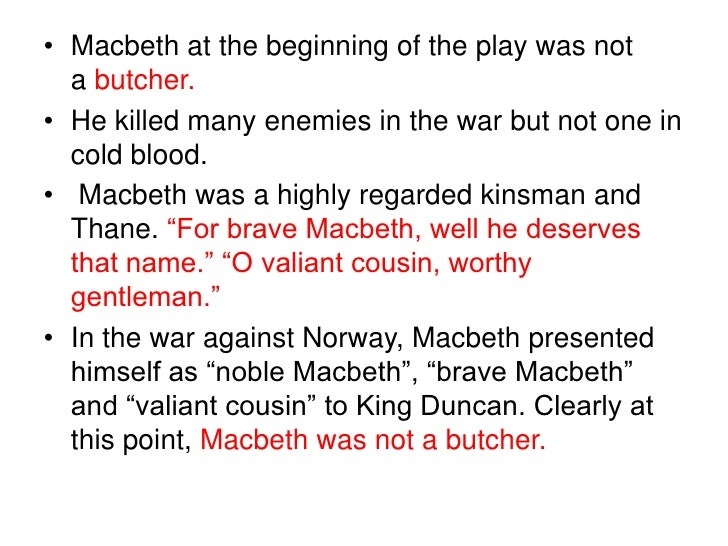 macbeth is butcher Macbeth and lady macbeth – a dead butcher and his fiend-like queen question: at the end of the play, malcolm dismisses macbeth and lady macbeth as the dead.