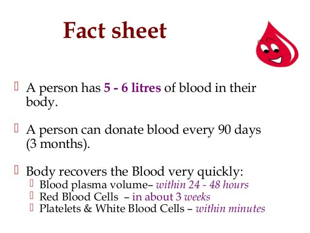 blood and donation facts, Human Body