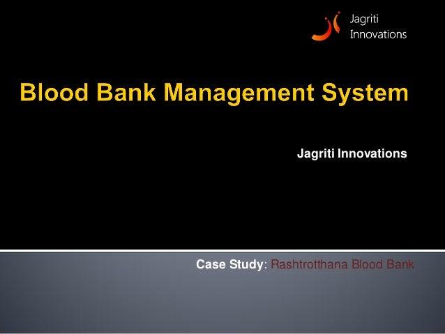 Blood Bank Management System - eBloodBanking
