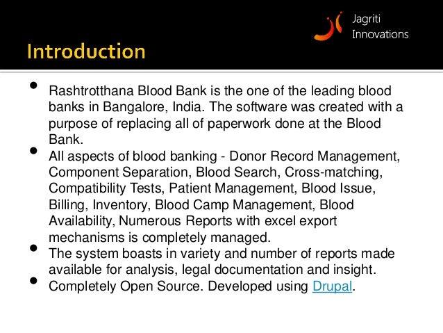 Blood Bank Management System Ebloodbanking