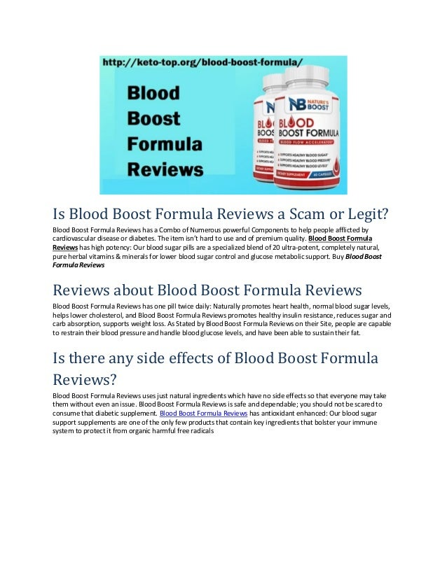 Is Blood Boost Formula Reviews a Scam or Legit? Blood Boost Formula Reviews has a Combo of Numerous powerful Components to...