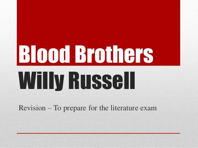 Blood brothers essay questions