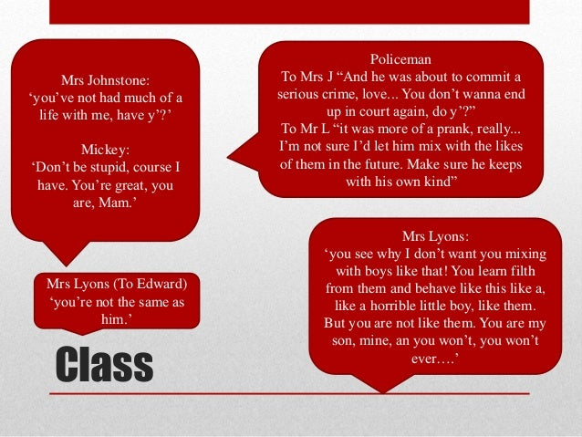 Blood Brothers Essay On Social Class