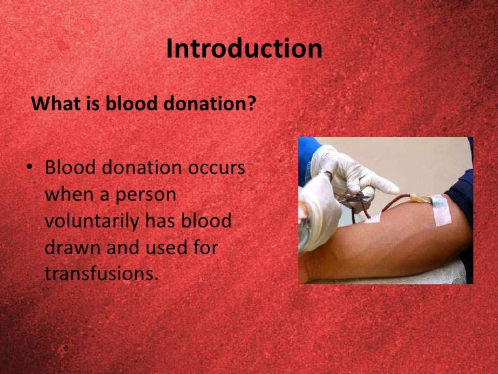 Persuasive Speech: Appeal for Blood Donation