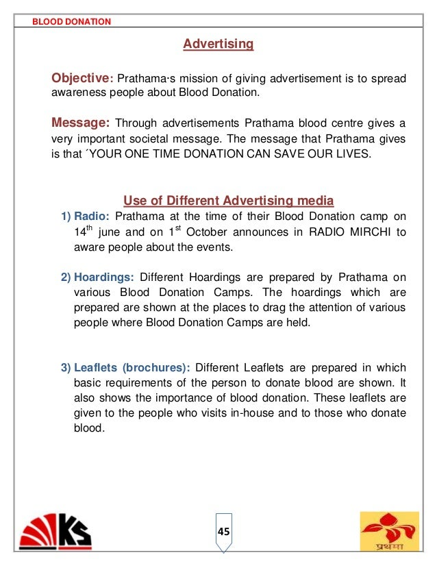Blood Donaion Ps Blood Donation Advertising  High School Essays Samples also Samples Of Essay Writing In English  Assignment For Sale