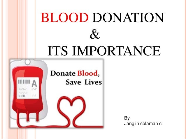 Blood donation essay in english