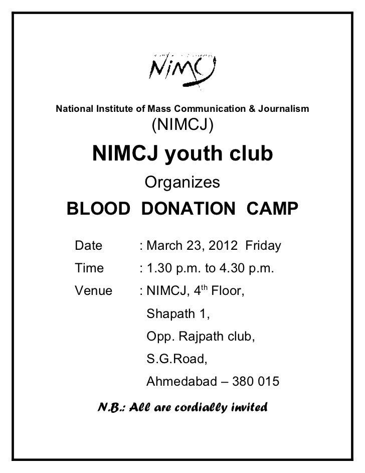 National Institute of Mass Communication & Journalism                   (NIMCJ)       NIMCJ youth club                  Or...