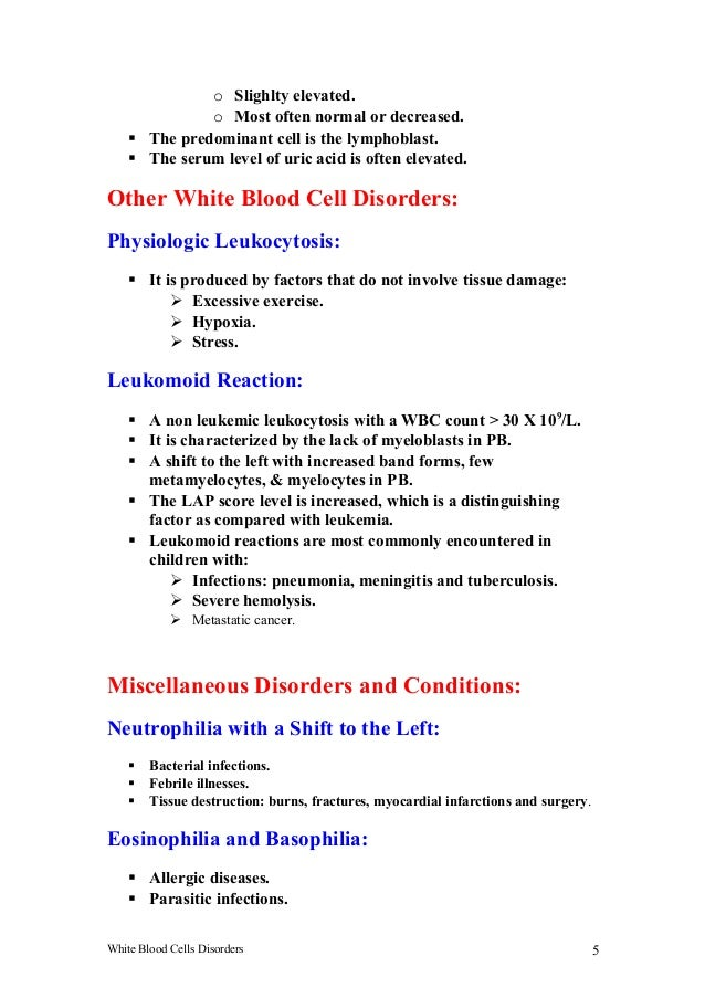 What do myelocytes in the blood mean and does this mean a type of cancer?