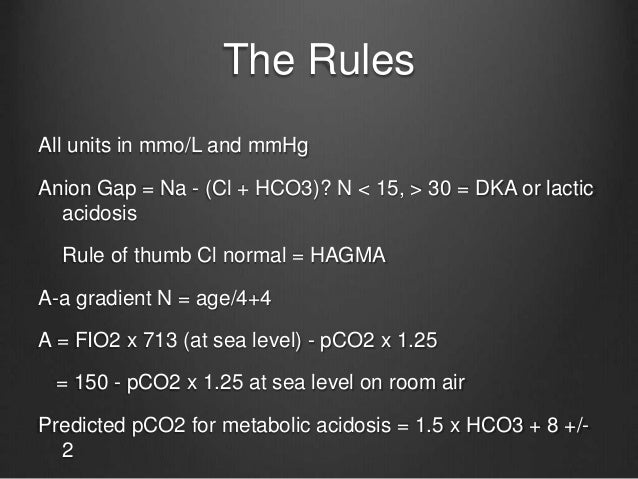 Rule of thumb examples