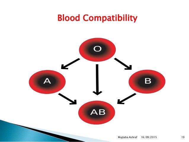 Blood Compatibility 16/09/2015 19Mujtaba Ashraf