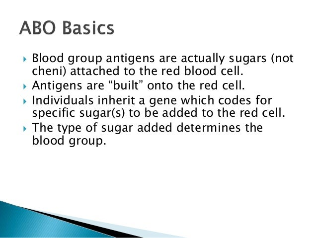 blood groups for ss