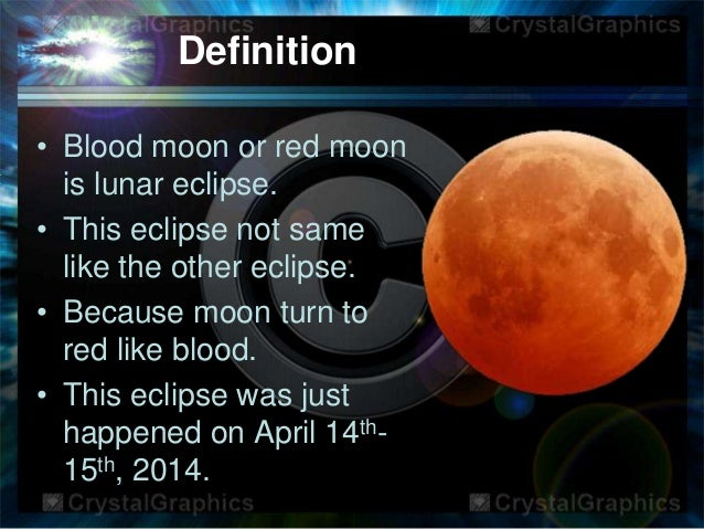 blood moon name meaning - photo #22