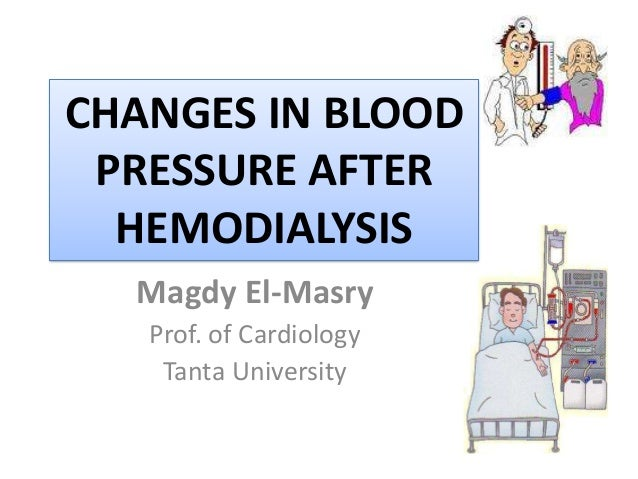 CHANGES IN BLOOD PRESSURE AFTER HEMODIALYSIS Magdy El-Masry Prof. of Cardiology Tanta University