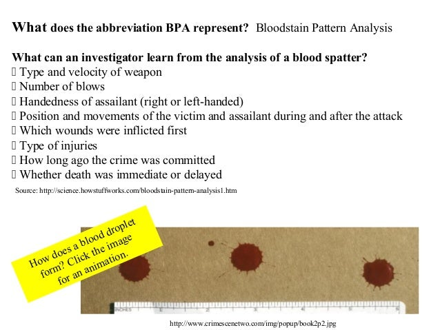 Blood Spatter Powerpoint
