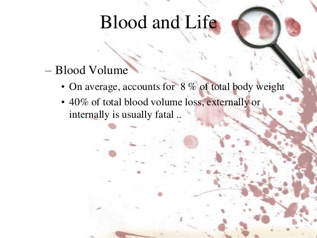 Blood spatter analysis Slide 3
